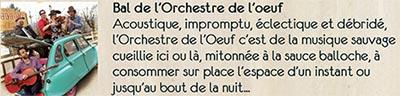 Bal de l'orchestre de l'oeuf